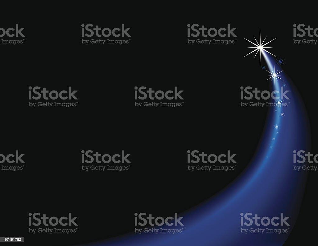 Shooting Star vector art illustration