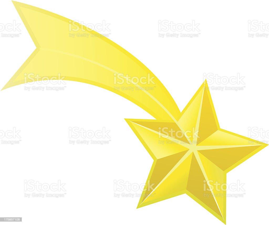 Shooting star vector vector art illustration