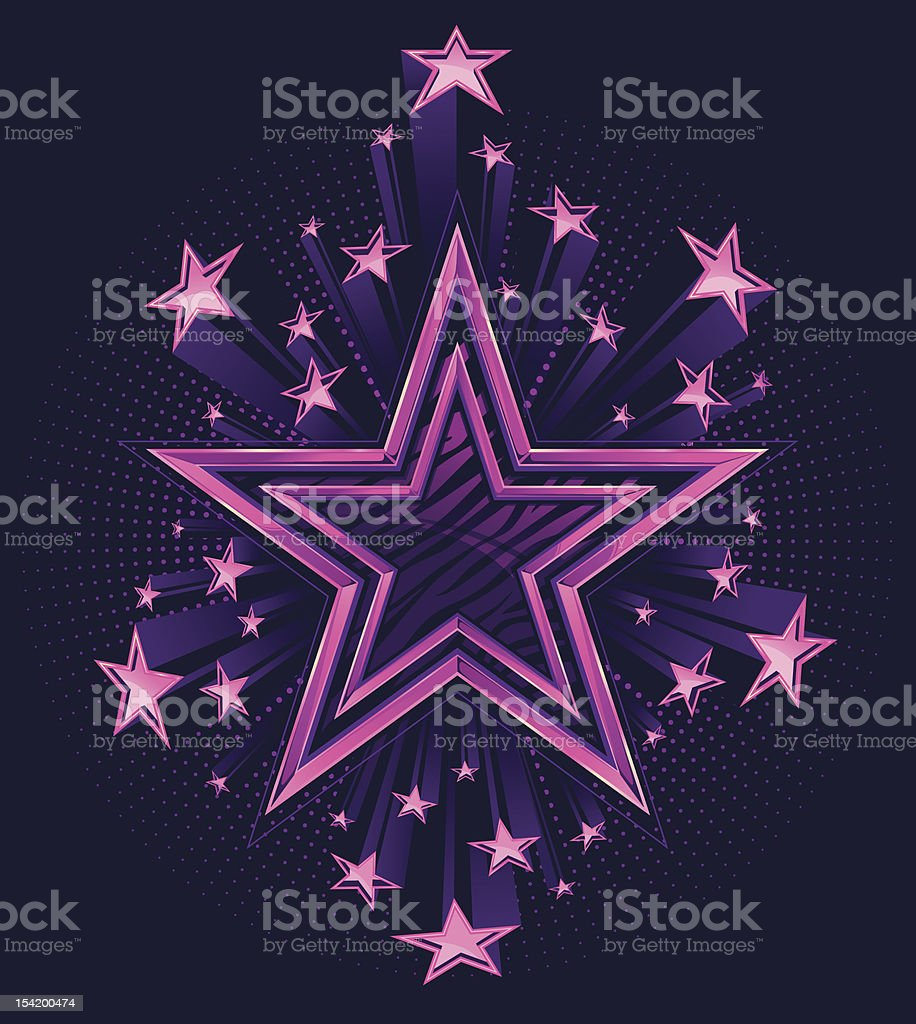 3D Shooting Stars Background royalty-free stock vector art
