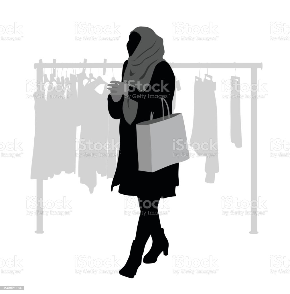 Shop Around vector art illustration