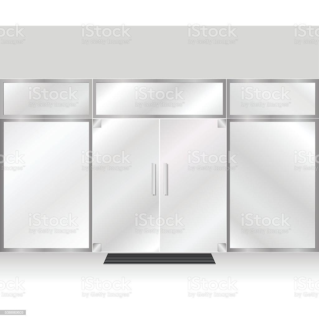 Shop doors vector art illustration