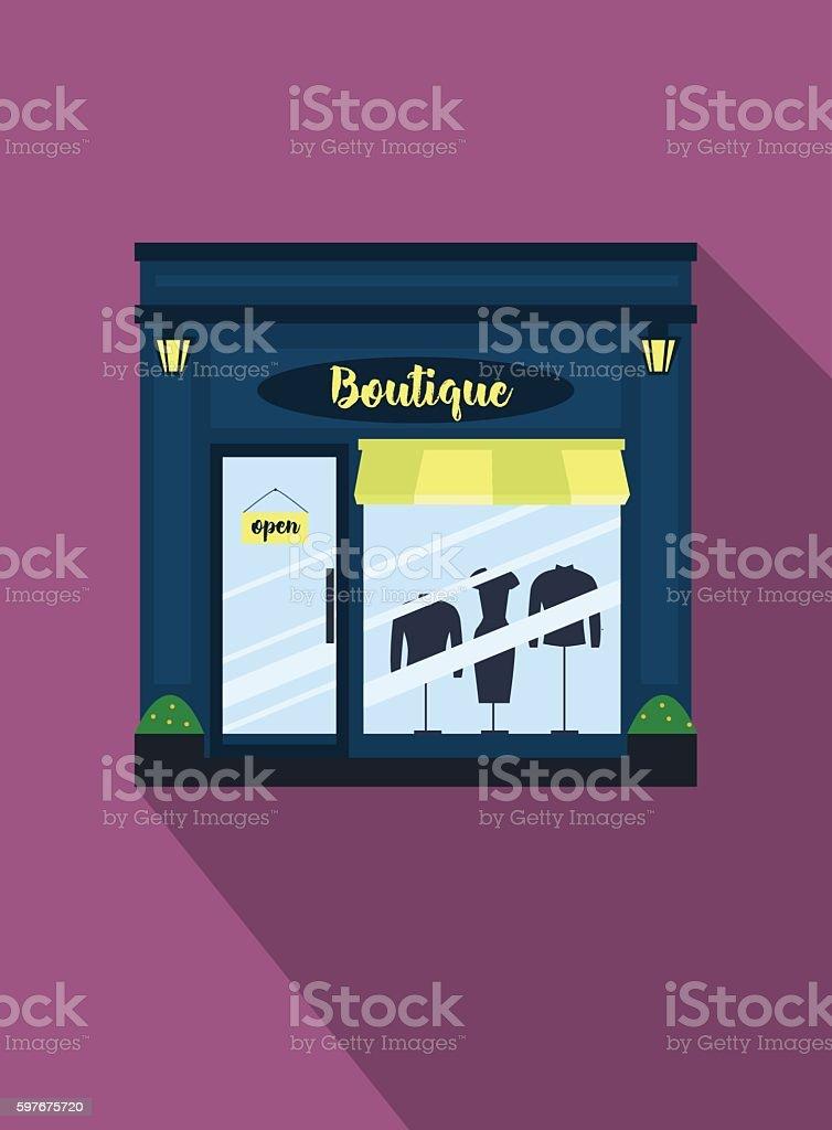 Shop Exterior. Vector illustration . vector art illustration