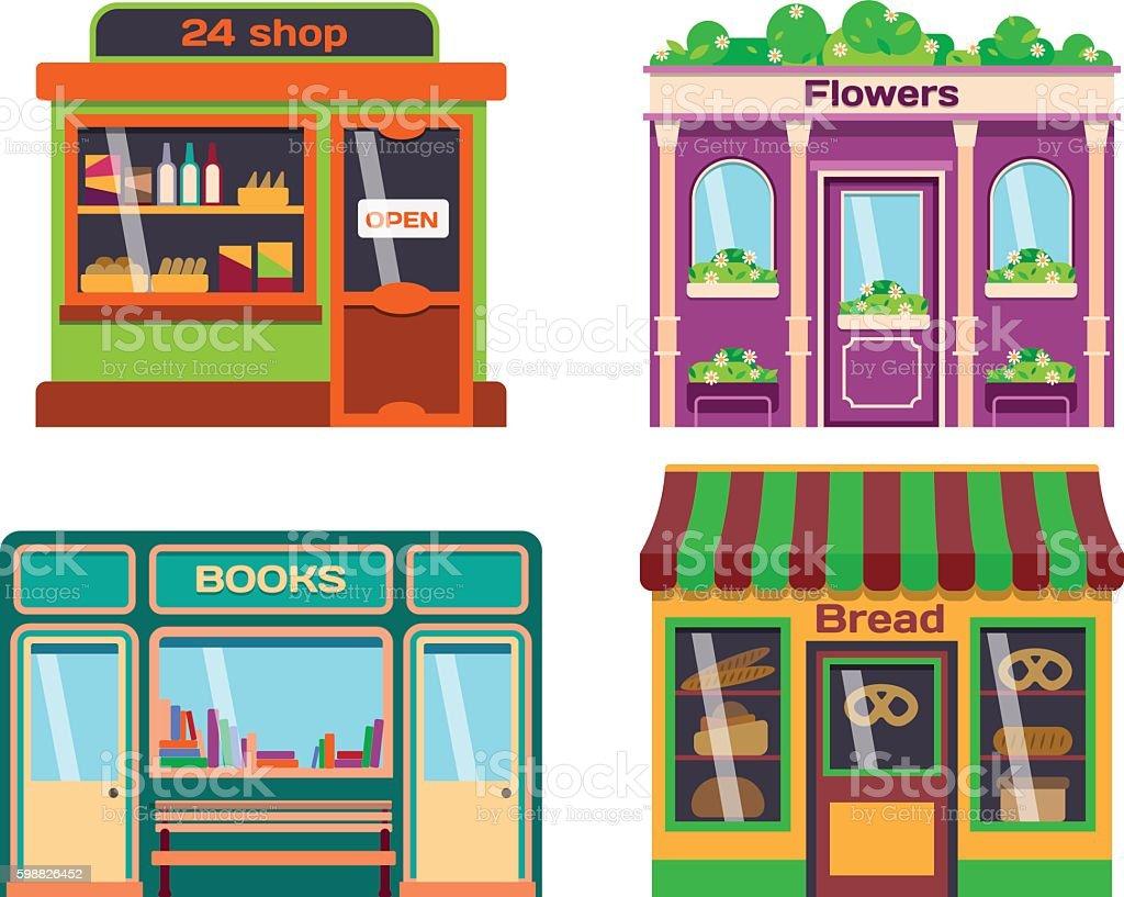 Shop facade vector illustration vector art illustration