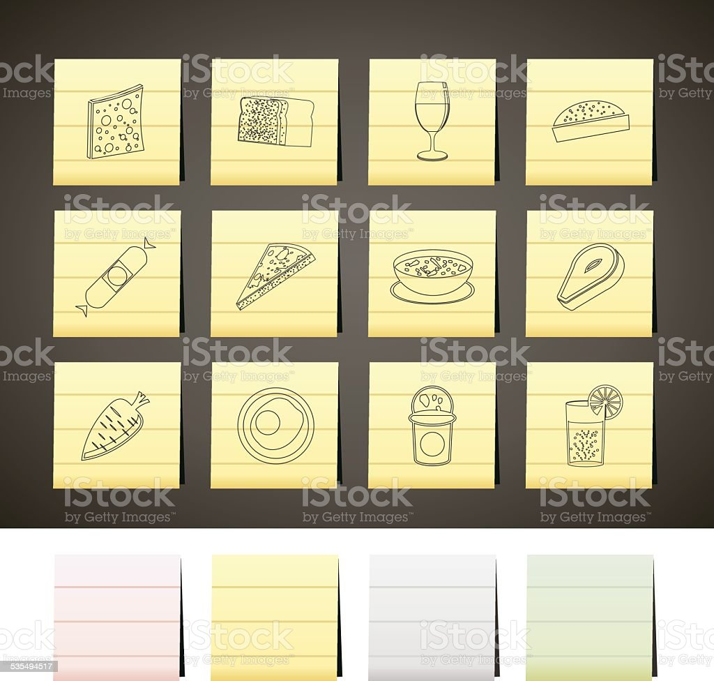 Shop, food and drink icons 2 vector art illustration