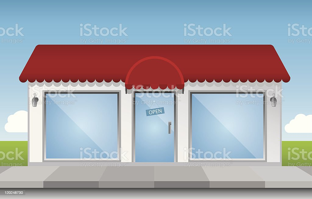 Shop Front royalty-free stock vector art