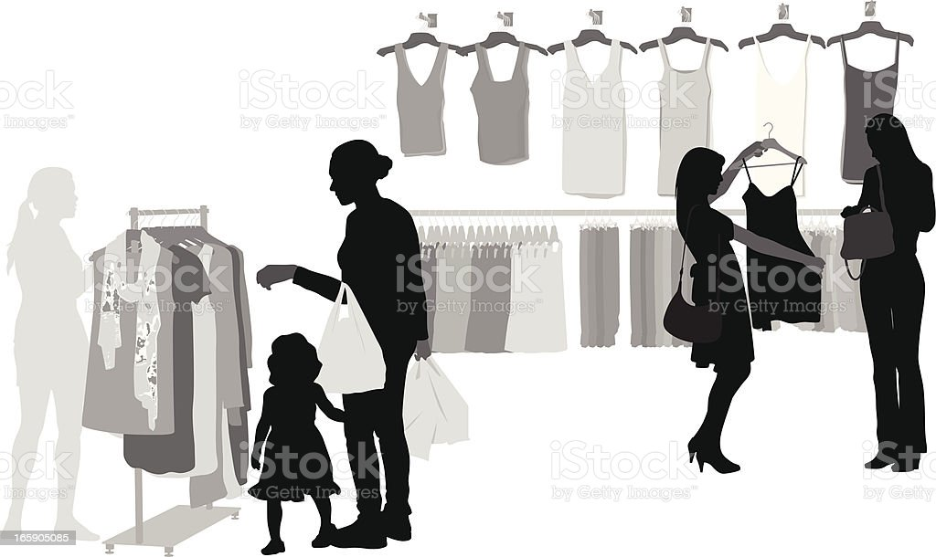 Shop Here Vector Silhouette royalty-free stock vector art