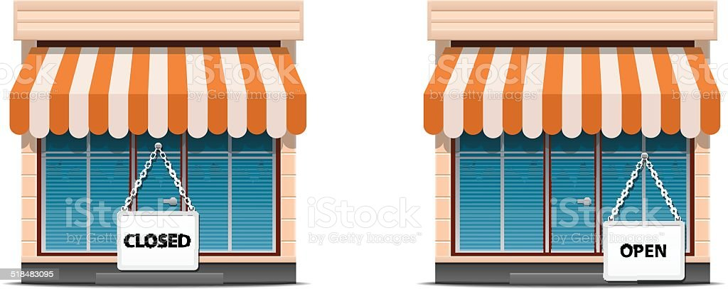 Shop icon set vector art illustration