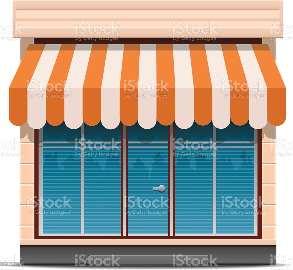 Shop icon vector art illustration