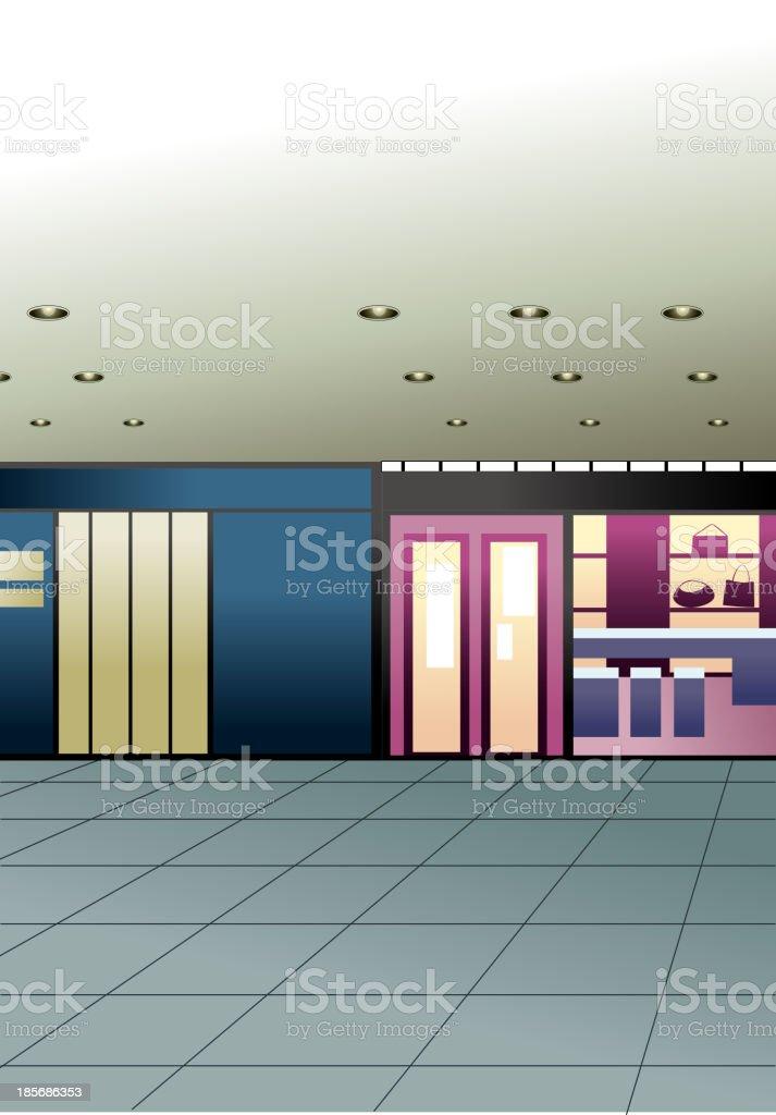 Shop Interior royalty-free stock vector art