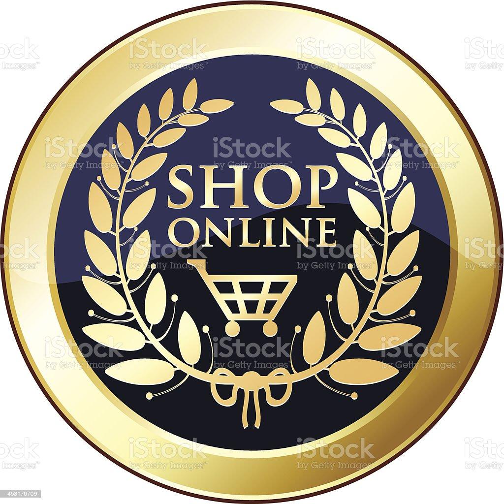 Shop Online Gold Medal royalty-free stock vector art