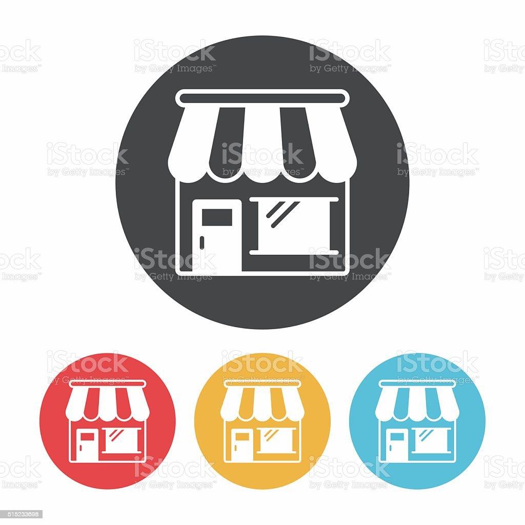 shop store icon vector art illustration