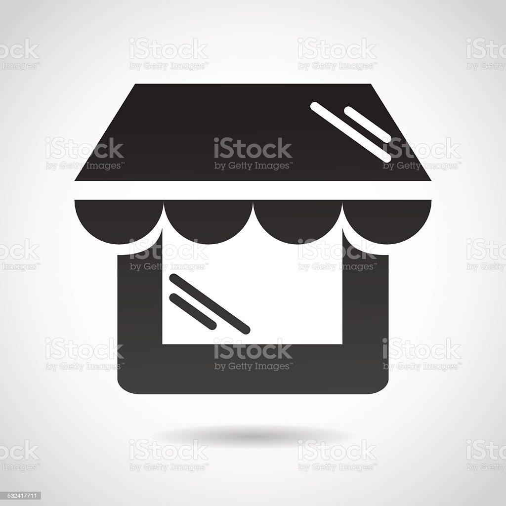 Shop window icon isolated on white background. vector art illustration
