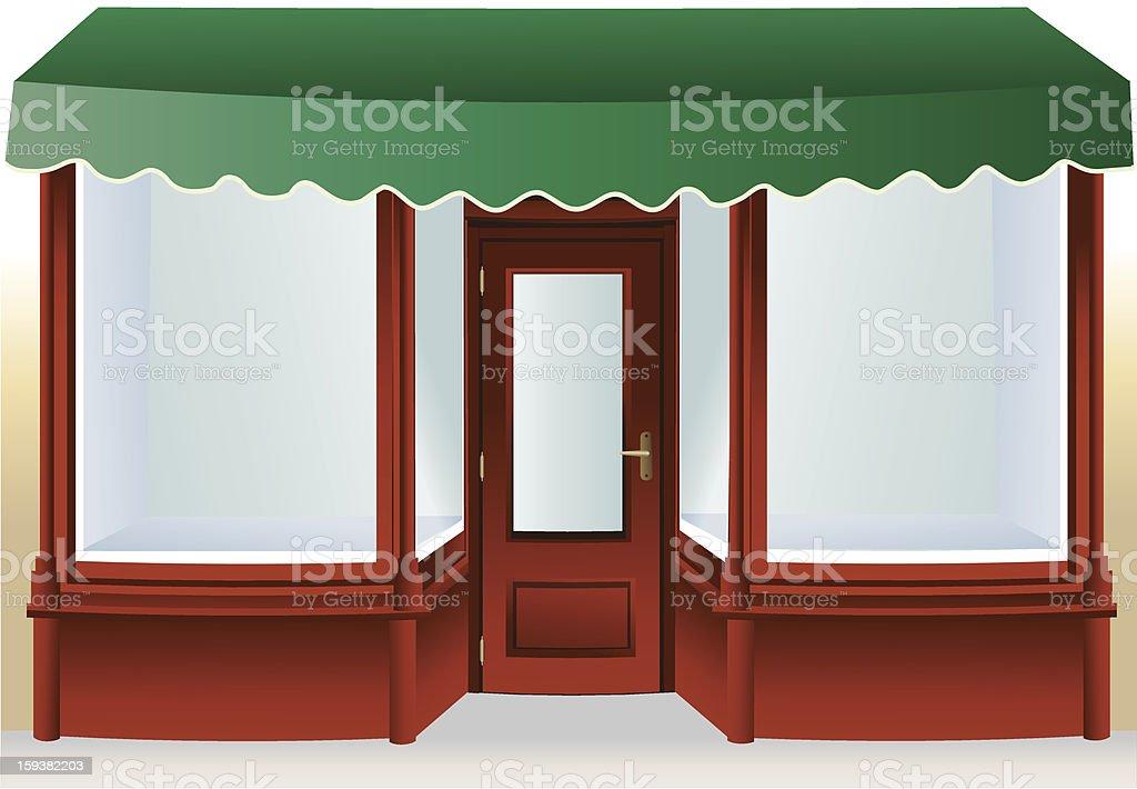 Shop window vector art illustration