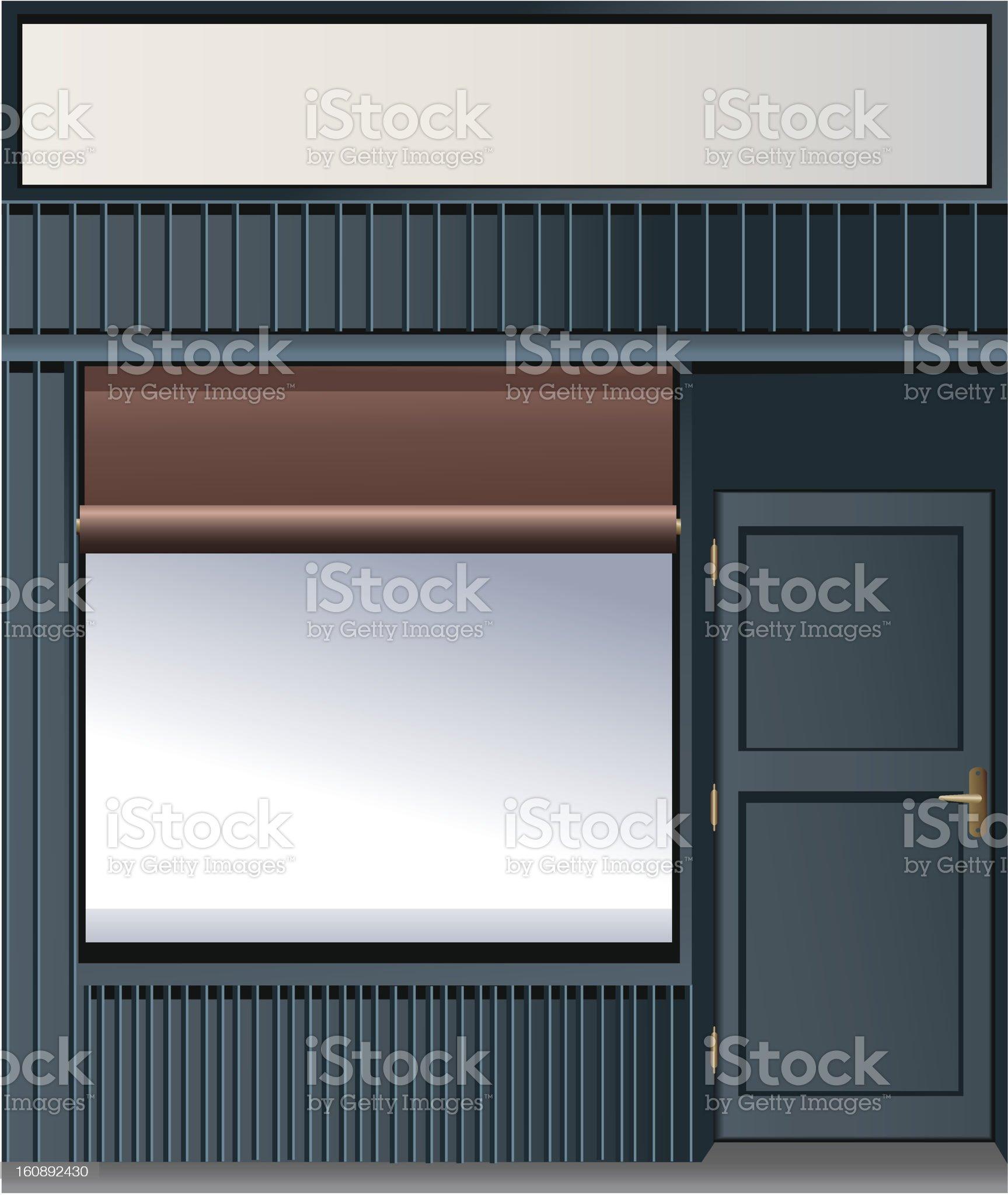Shop window royalty-free stock vector art