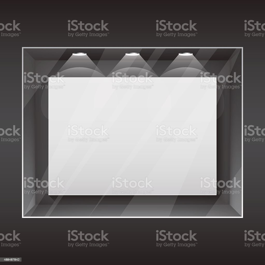 Shop window. vector art illustration