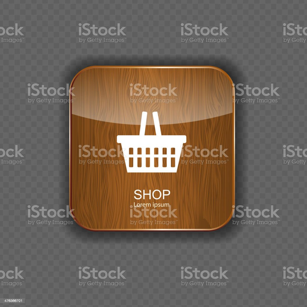 Shop wood application icons royalty-free stock vector art