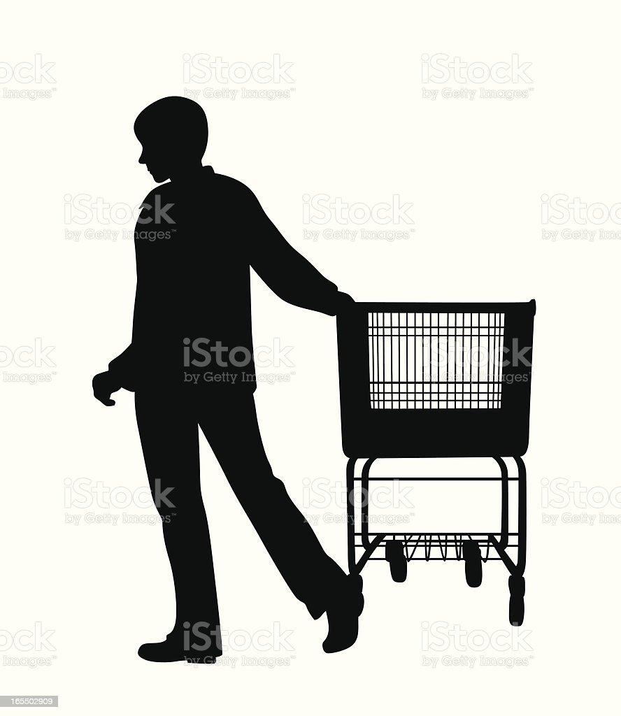 Shopper Vector Silhouette royalty-free stock vector art