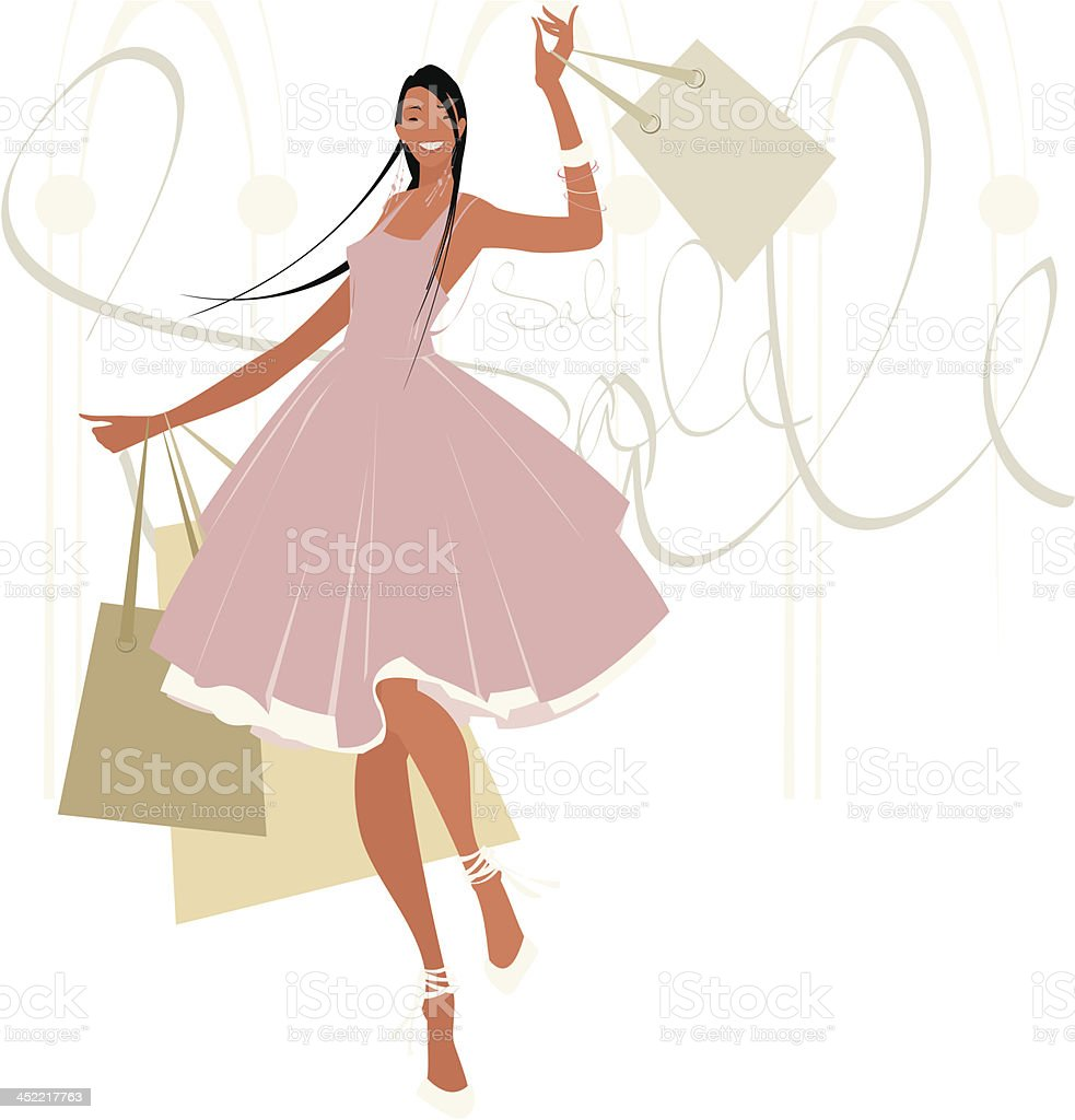 Shopping _Moment of pleasure_02 royalty-free stock vector art