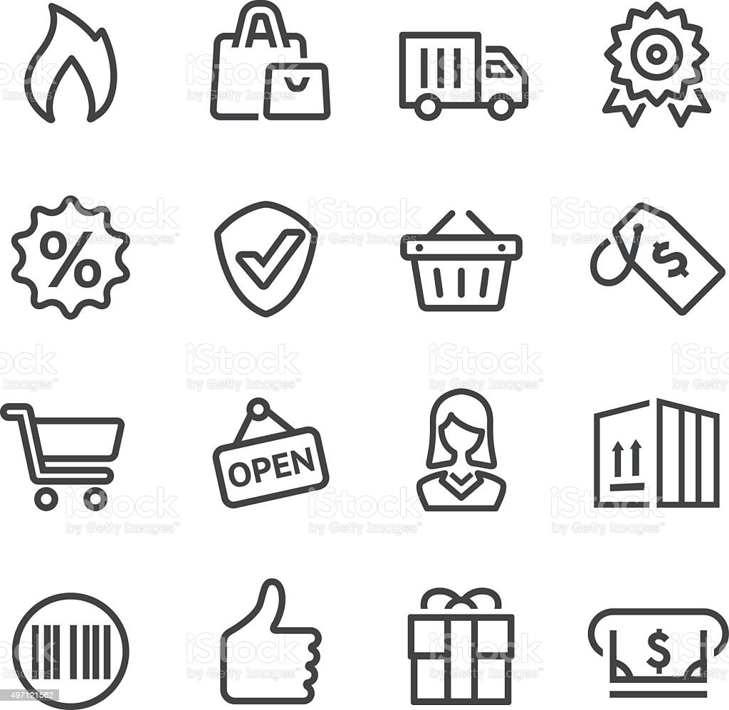 Shopping and Buying Icon - Line Series vector art illustration