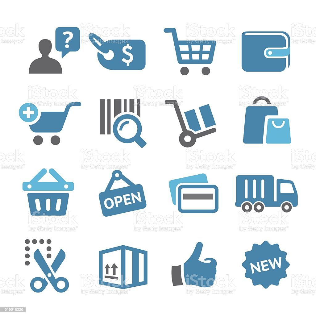 Shopping and Buying Icon Set - Conc Series vector art illustration
