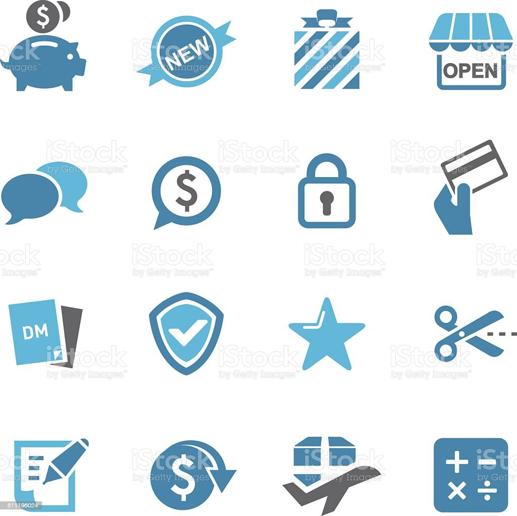 Shopping and Buying Icons - Conc Series vector art illustration