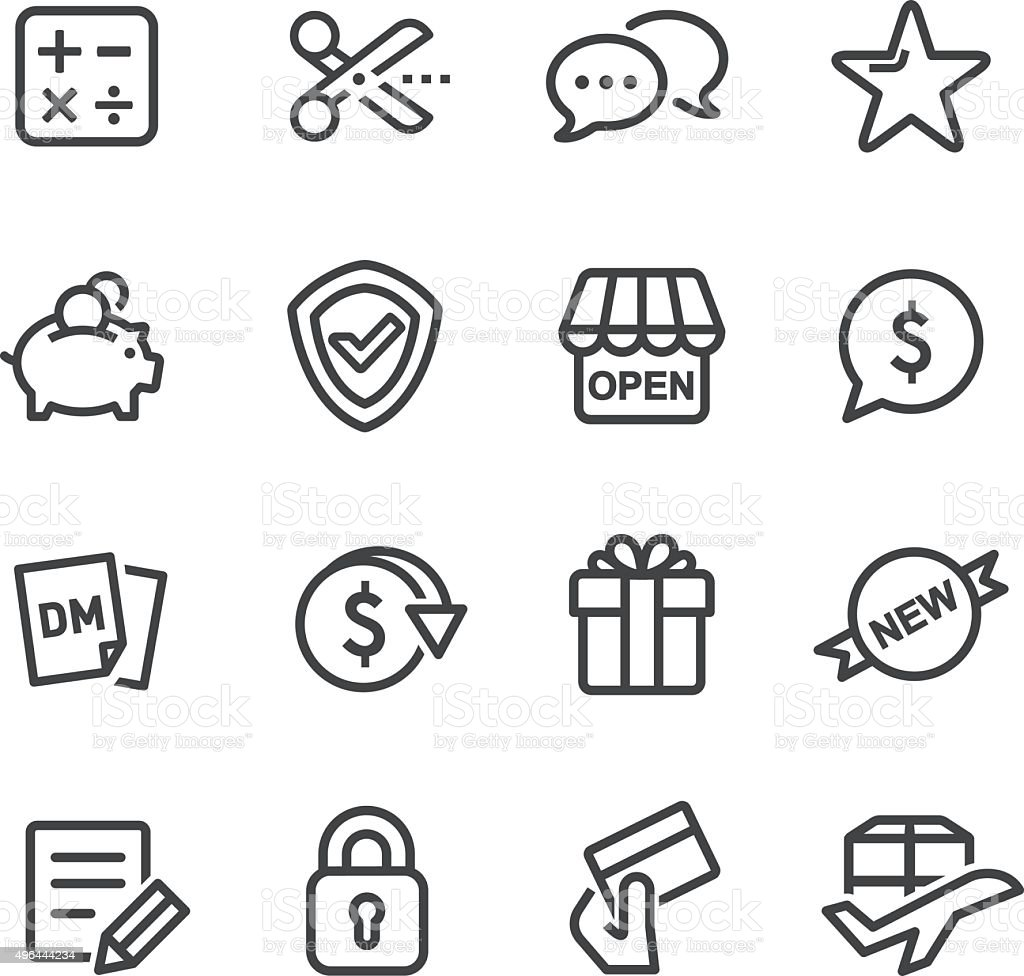 Shopping and Buying Icons - Line Series vector art illustration