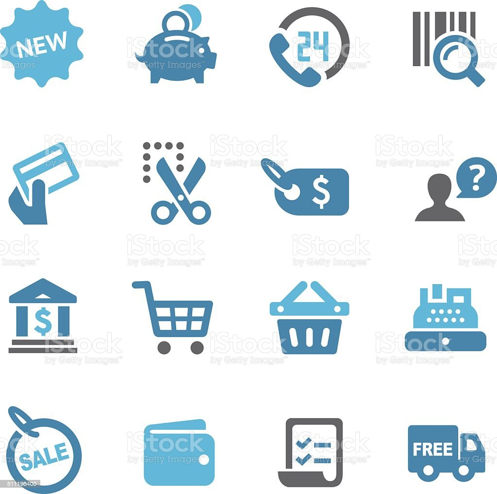 Shopping and Buying Icons Set - Conc Series vector art illustration