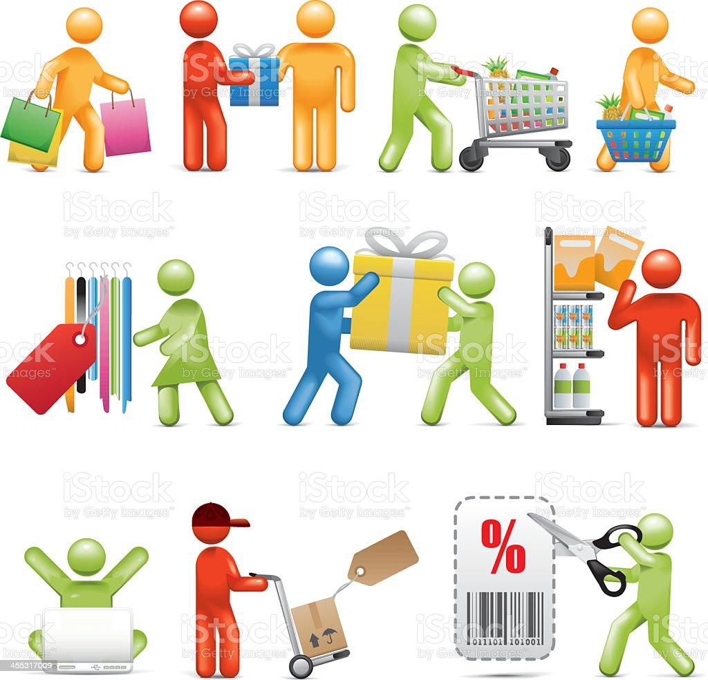 Shopping and Consumerism royalty-free stock vector art