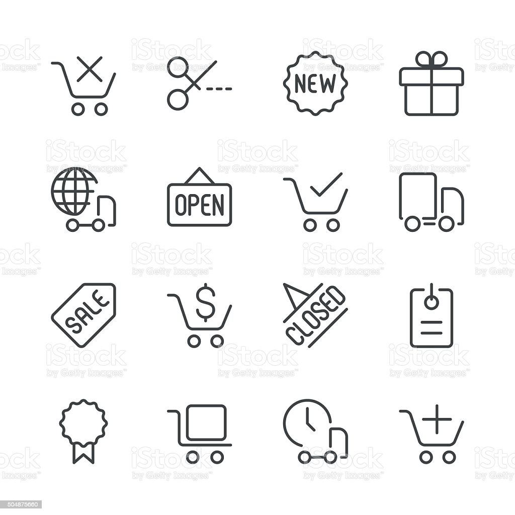 Shopping and E-Commerce Icons set 2 | Black Line series vector art illustration