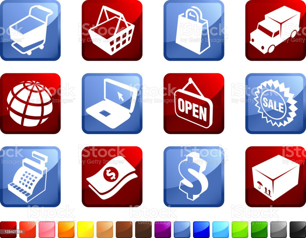 Shopping and e-commerce royalty-free stock vector art