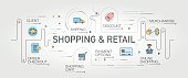 Shopping and Retail banner and icons
