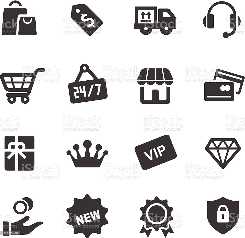 Shopping and Retail Icons - Acme Series vector art illustration