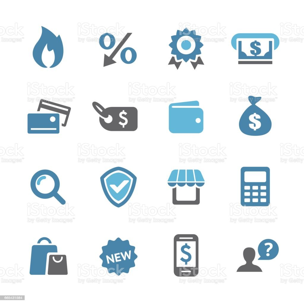 Shopping and Retail Icons - Conc Series vector art illustration