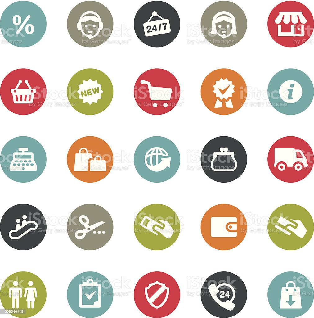 Shopping and Retail icons / Ringico series vector art illustration