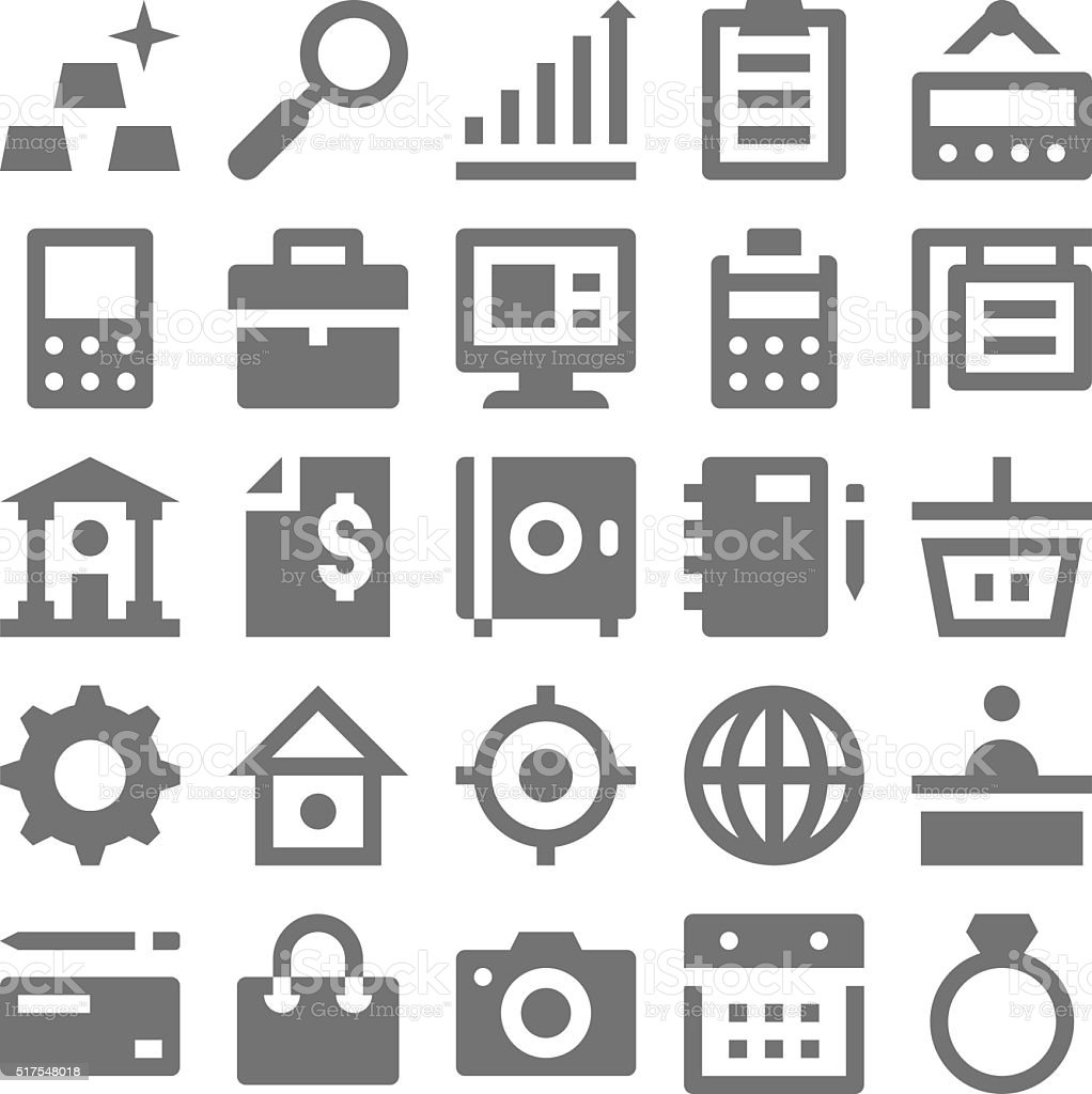 Shopping and Retail Vector Icons 4 vector art illustration