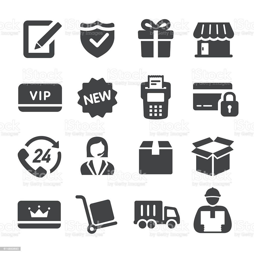 Shopping and Shipping Icons - Acme Series vector art illustration