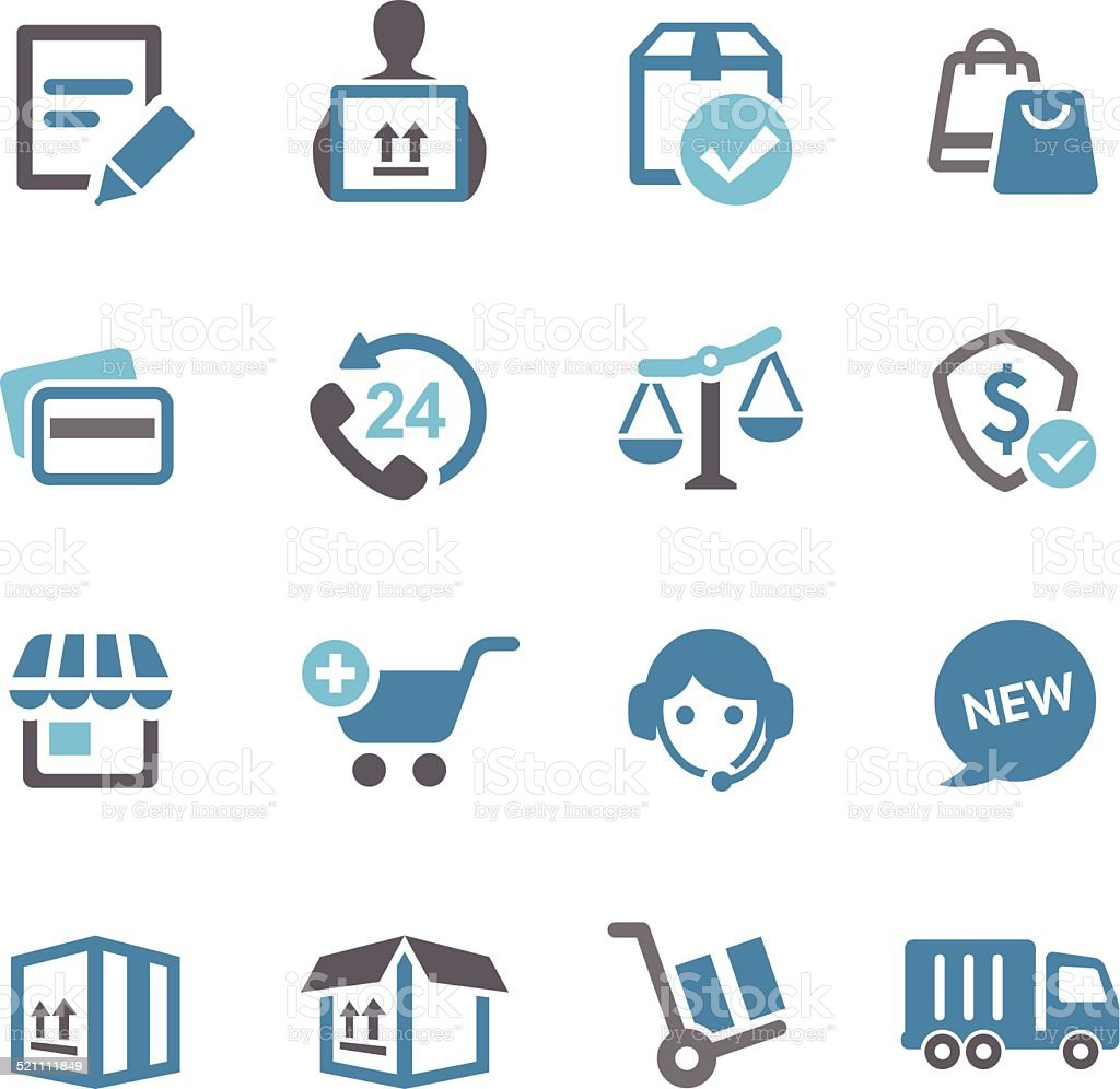 Shopping and Shipping Icons - Conc Series vector art illustration
