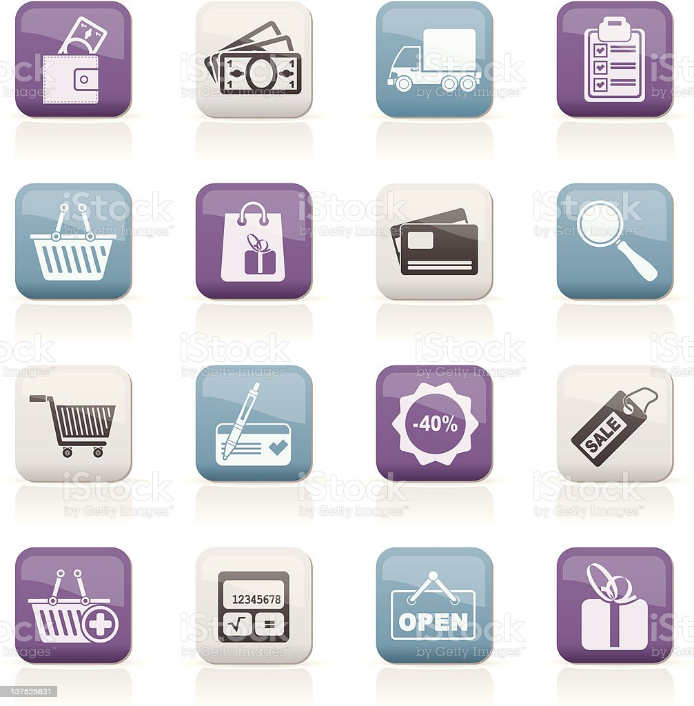 Shopping and website icons royalty-free stock vector art