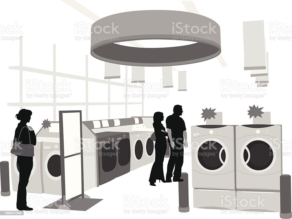 Shopping Appliances royalty-free stock vector art