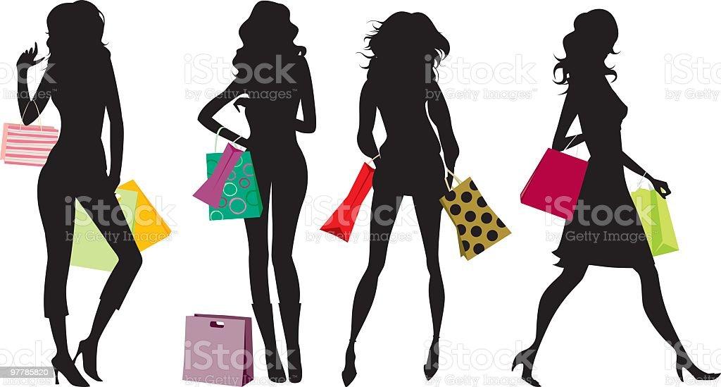 Shopping attitude royalty-free stock vector art