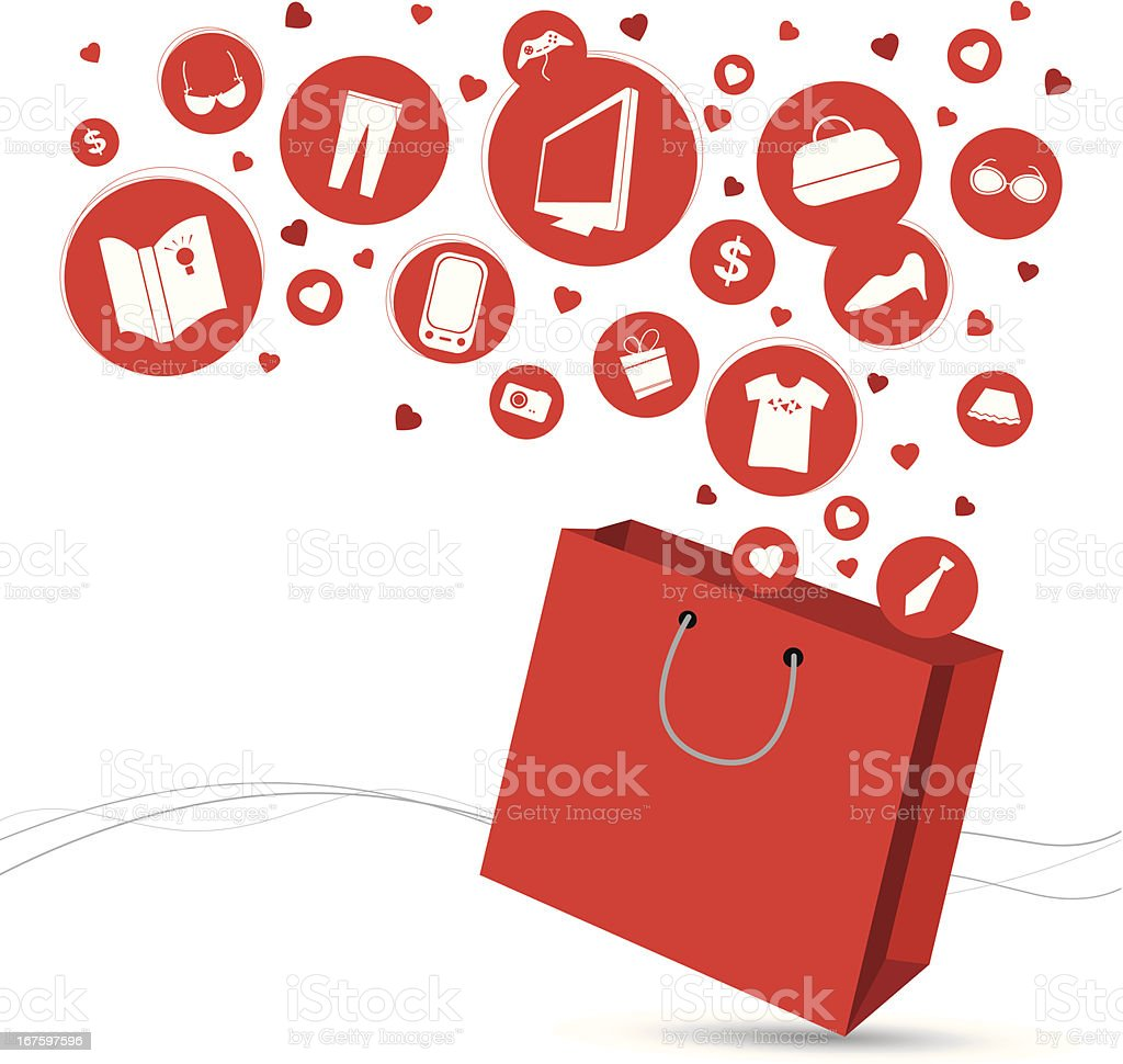 Shopping bag and fashion icon design vector art illustration