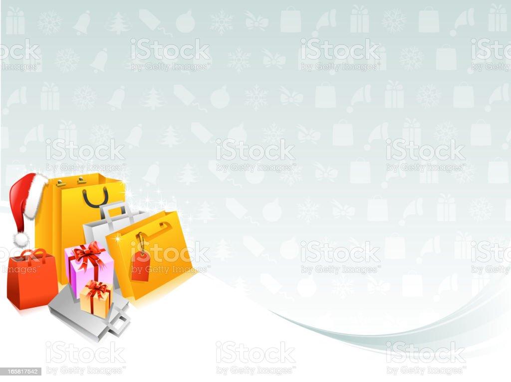 shopping bag backround vector art illustration