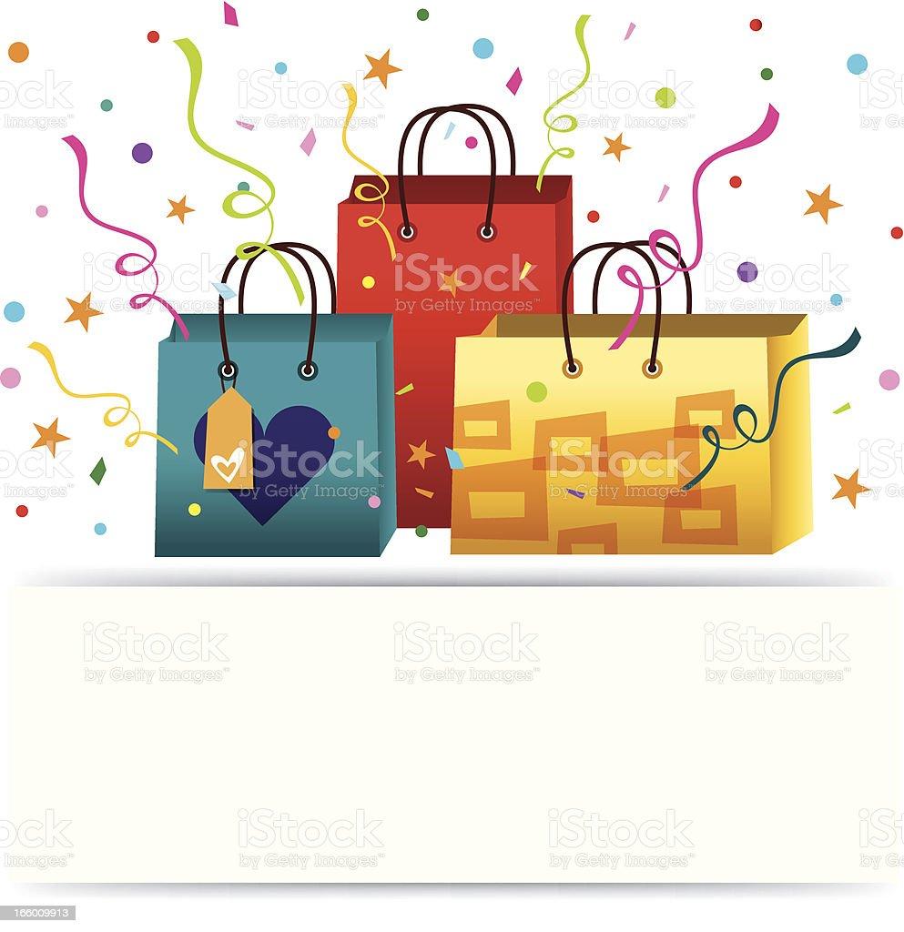 Shopping Bag Banner royalty-free stock vector art