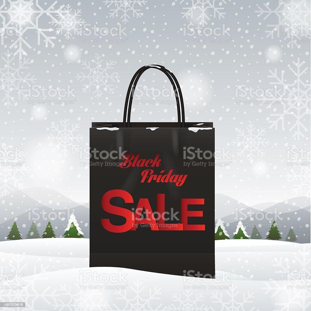 shopping bag, Black friday vector art illustration