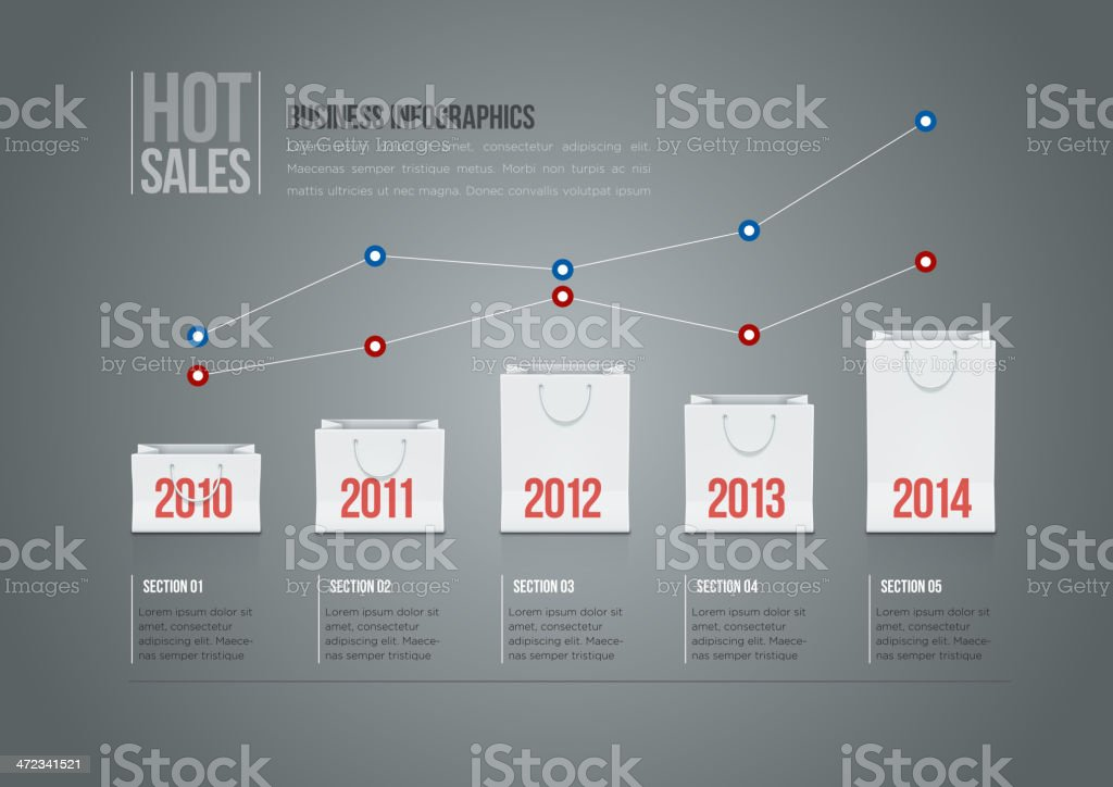 Shopping Bag Graph royalty-free stock vector art