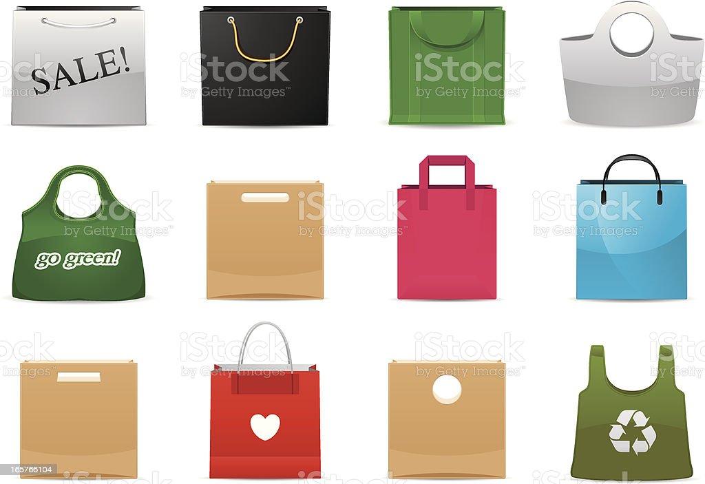 Shopping Bag icons | Classic series vector art illustration