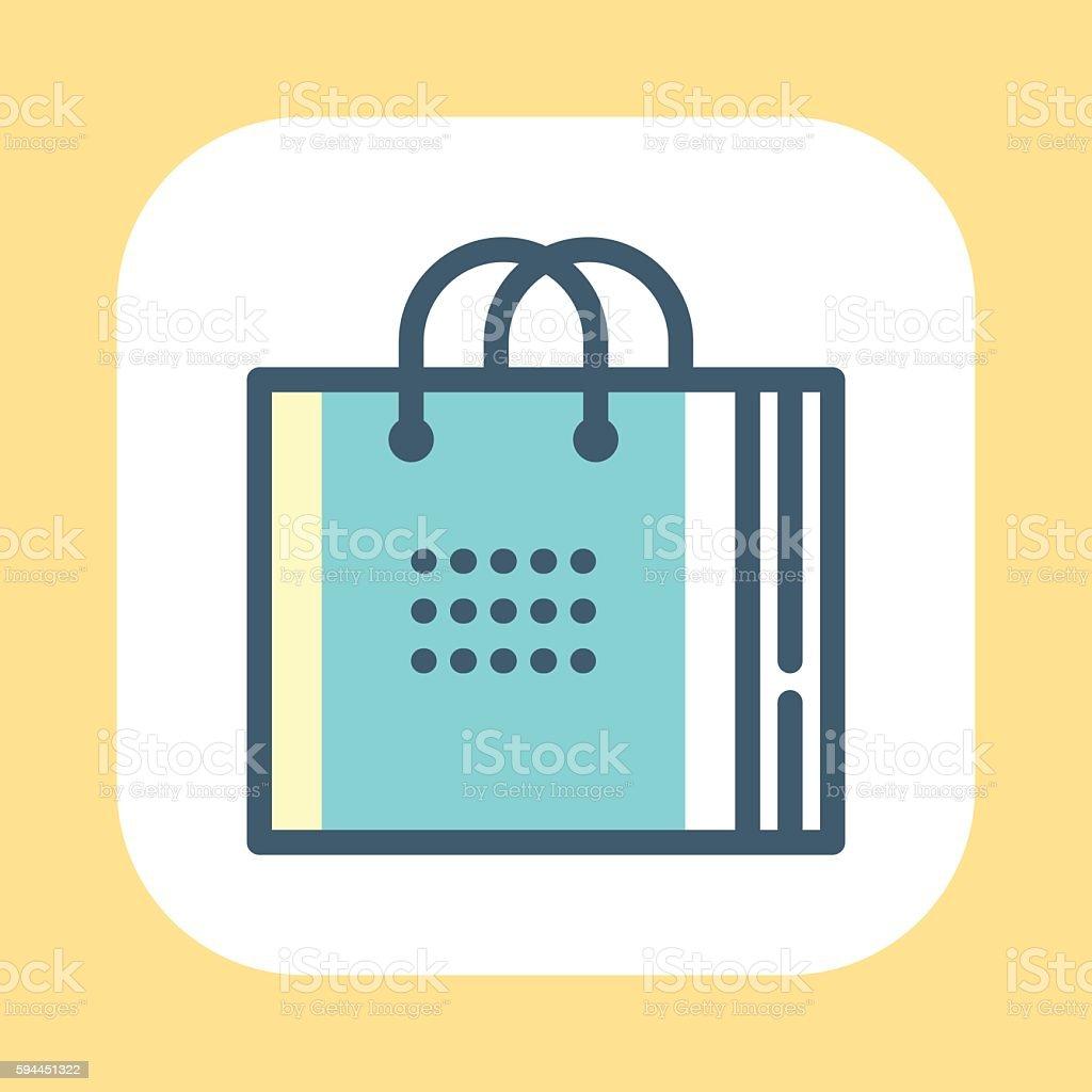 Shopping Bag Symbol vector art illustration