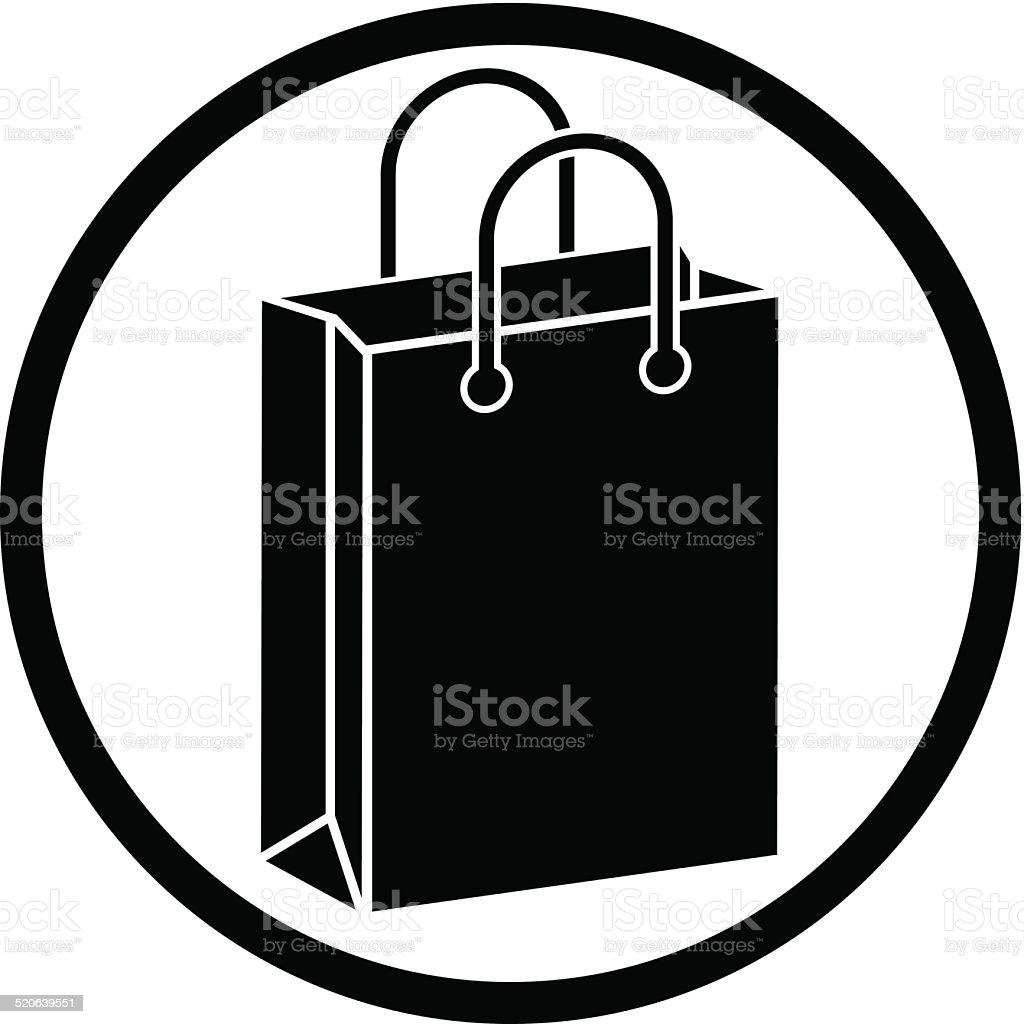 Shopping bag vector icon. vector art illustration