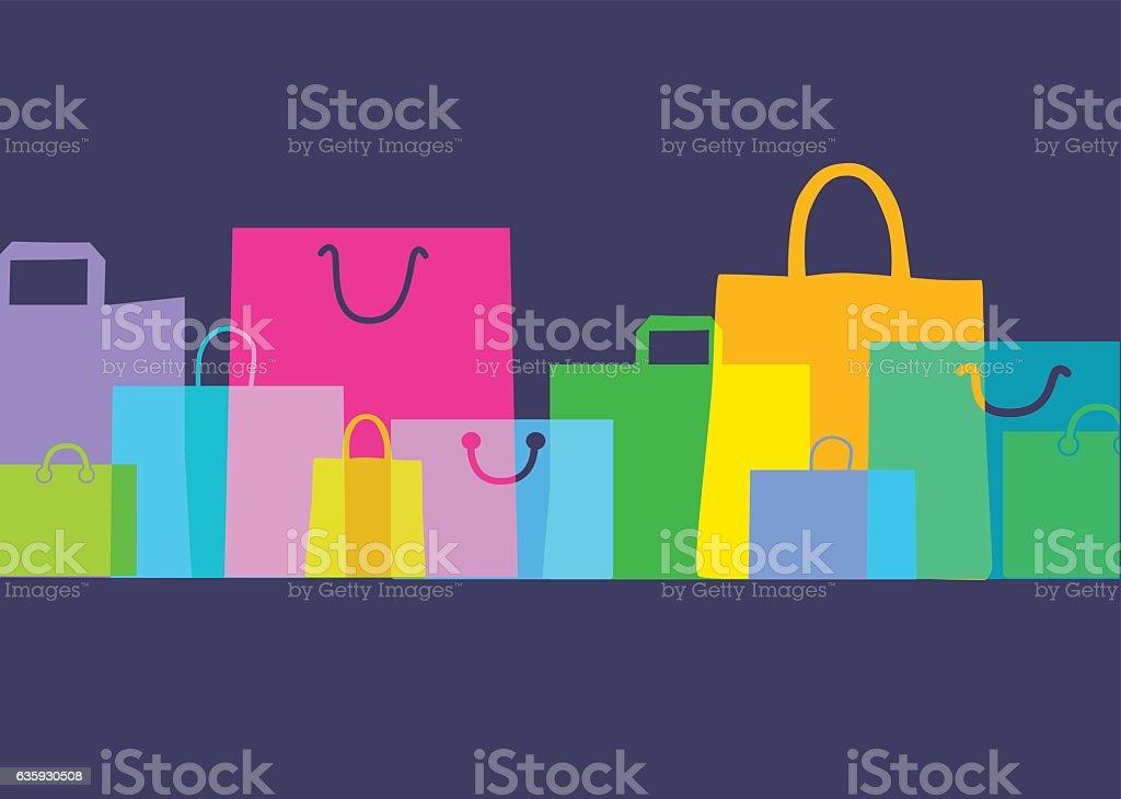Shopping bags - Gift bags vector art illustration