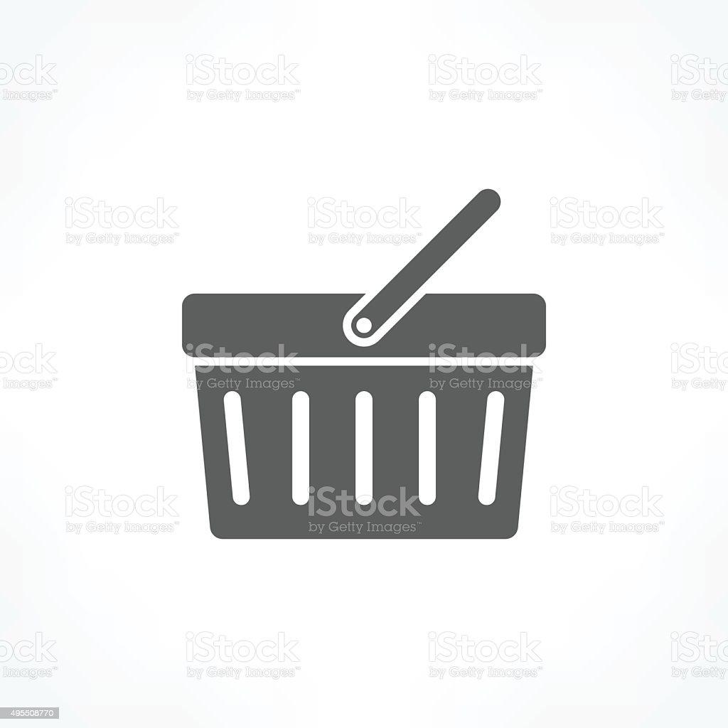 shopping basket icon vector art illustration